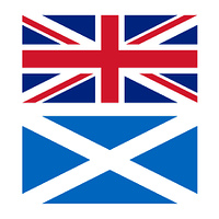 Flag of UK and Scotland