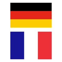 German and French flag