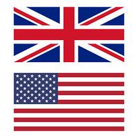 Flag of United Kingdom and United States