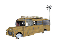 alter Campingbus freigestellt
