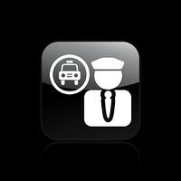 Vector illustration of single driver icon