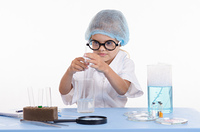 Girl chemist gets a new formula of chemical compound