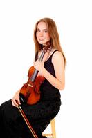 Woman violin player.