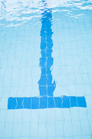 Bottom lane line of swimming pool