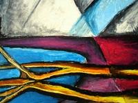 Kreidekuste abstrakt