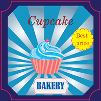 banner for the Bakery Cafe with cake