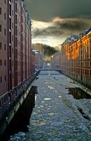 Eisschollen in Hamburg