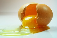 Aufgeschlagenes Ei