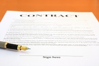 Contract and fountain pen