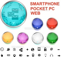 buttons for pocket pc, media and web - vector format
