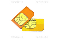 Sim cards for mobile phone isolated on white background