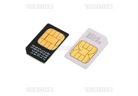 Two SIM cards for cellular phones isolated