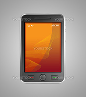 Black mobile smart phone isolated on white.