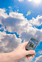 Fictitious Mobile Smartphone With Weather Forecast Application