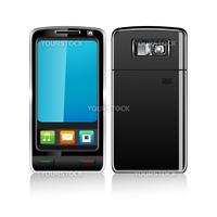 illustration of mobile phones on white background