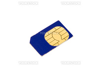 series object on white SIM card for mobile phone