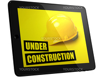 Under construction picture on tablet PC