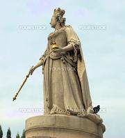 Victoria queen sculpture stone St Pauls City London regal