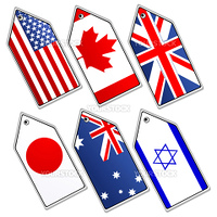illustration of different flags on white background