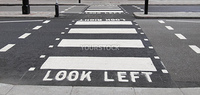 Look Left Look Right sign in a London street