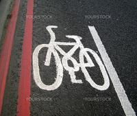 Bicycle lane traffic sign