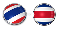 button style banner in 3D of Thailand
