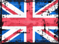 grunge background - union jack - illustration