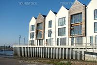 Modern UK riverside flats