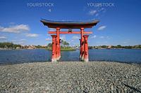 The Itsukushima Shinto Shrine in Hiroshima Prefecture