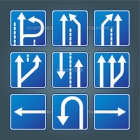 Direction traffic sign collection vector for poster