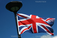 british flag in front of blue sky