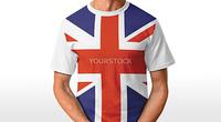 UK t-shirt isolated on white