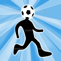 Computer generated image - Football Person .