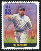 UNITED STATES - CIRCA 2000: stamp printed by United states, shows baseball, Pie Traynor, circa 2000