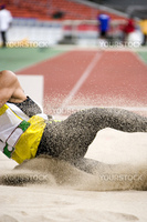 Image of a long jumper in action.