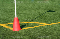 A Soccer Corner Marker Flag with shadow
