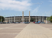 Exterior view of Berlin Olympiastadion in Germany