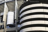Close-up detail of Real Madrid Football Stadium in Madrid, Spain