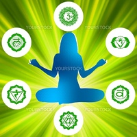 Six Chakras and spirituality symbols. EPS 8 vector file included