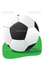 Football in a grass, a vector illustration