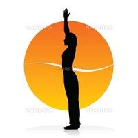 Vector silhouette of a woman in yoga asana