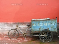 Ancient carrier bicycle in China