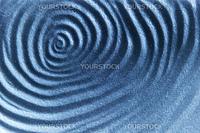 An abstrct blue sand ripple