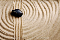 A circular sand swirl background texture abstract