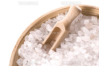 sea salt isolated on the white background