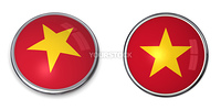 button style banner in 3D of Vietnam