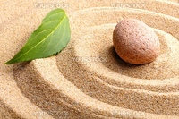 zen garden or spa still life with stone pebble and sand