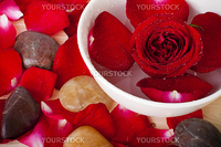 Rose and pebbles spa concept
