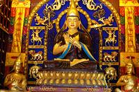 Golden buddha sculpture in Tibet