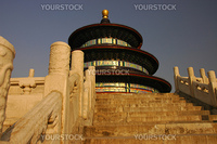 Tian Tan, or Temple of Heaven, Beijing, in the late afternoon sunshine